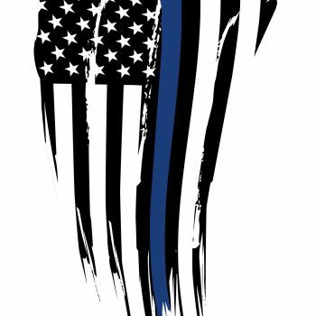 Back the Blue Flag